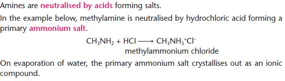 Amines - Chemistry A-Level Revision