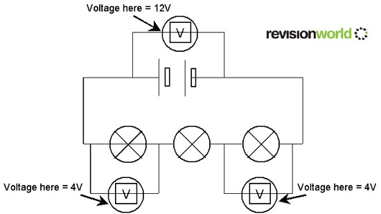 series and parallel circuits physics gcse revisionvoltage across a series current